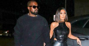 Kim Kardashian Black Leather Outfit LA July 2019