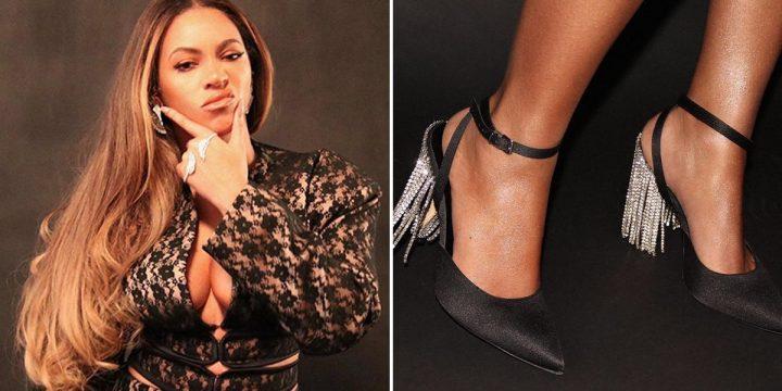 Beyoncé Wears Christopher Kane Dress and Area Fringe Heels